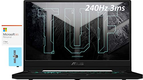 """ASUS TUF Dash 15 Gaming and Entertainment Laptop (Intel i7-11370H 4-Core, 40GB RAM, 8TB PCIe SSD, RTX 3070, 15.6"""" Full HD (1920x1080), WiFi, Win 10 Pro) with MS 365 Personal, Hub"""