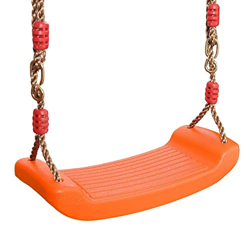 HUBINGRONG Toys Swing Children's EVA Baby Swing Safety Curved Board Swing Seat For Kid Garden Indoor Outdoor Chair Hanging Swing Toy (Color : Orange)