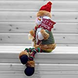 Christmas Decorations Sitting Father Christmas Santa Claus Snowman Figure Plush Toy Doll Christmas Party Tree Hanging Decor Home Indoor Table Fireplace Shelf Sitter Figurine Ornament Decoration Gifts