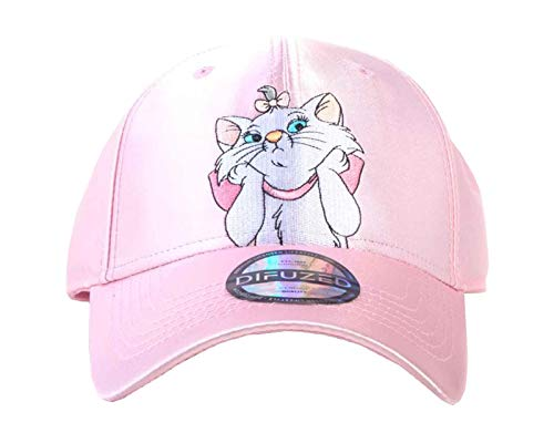 Disney Aristocats Baseball Cap Marie Satin Nylon Nue offiziell Rosa Curved Bill