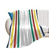 VinMea Flannel Blanket Hudson Bay Fleece Throw Blanket for Couch Sofa, 60x80 Inches