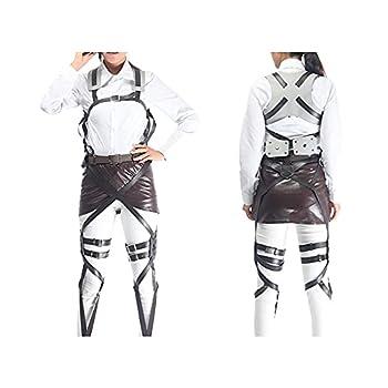 Anime Cosplay Costume Recon Corps Belt Hookshot Costume Harness Belt Halloween Cosplay  with Miniskirts