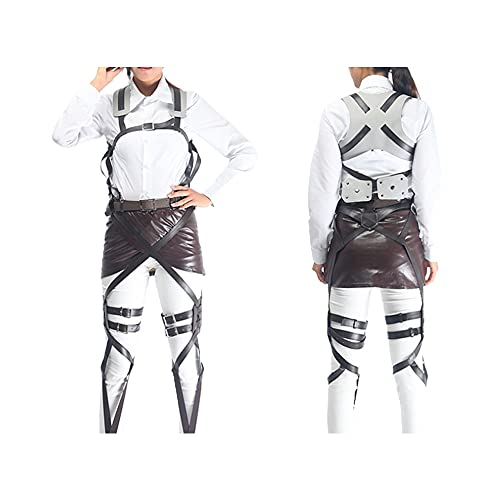 Attack on Titan Cosplay Anime Cosplay Costume Mikasa/Levi Ackerman Shingeki no Kyojin Harness Belt(with Miniskirts)…