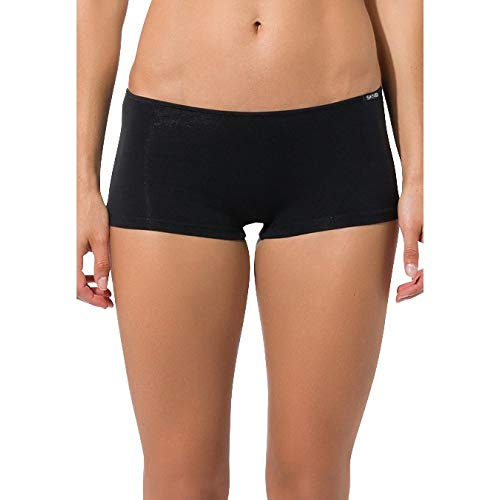 Skiny Damen Essentials Low Cut Pant Triangel Panties, Schwarz, 38