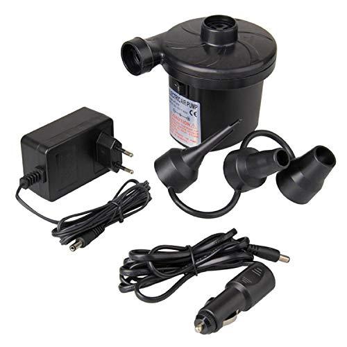 Haudang ODIAL (R) EU-Stecker Elektrische Luftpumpe DC12V / AC230V Aufpumpen Deflate Pumpen Auto Inflator Elektropumpe mit 3 Duesen
