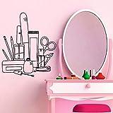 Encantadores adhesivos de pared para salón de belleza, adhesivos de PVC para pared, adhesivos de pared para decoración del hogar modernos y de moda A5 L 43x50cm