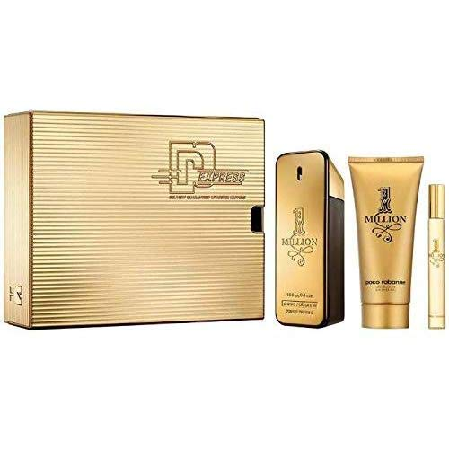 Paco Rabanne - 1 Million Set - 100ml EDT + 100ml Showergel + 10ml Travel-Spray