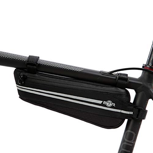 BTR leichte Fahrradtasche mit Reflektion, wasserabweisende Rahmentasche mit wasserfesten Reißverschlüssen