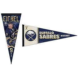 WinCraft Bundle 2 Items: NHL Buffalo Sabres 2 Premium Pennants 1 Jack Eichel and 1 Vintage Retro