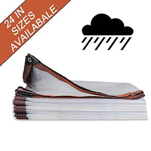 NaDrn Lonas Servicio PVC Impermeable Lona alquitranada Resistente a los Rayos UV, A Prueba de Humedad, Resistente al desgarro Lona alquitranada con Ojales y Bordes Reforzados - 100g / m²,16x16ft/5x5m