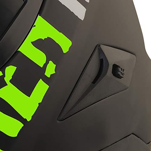 Broken Head BeProud Helm | Motorradhelm Set inkl. Schwarzem Visier – Integralhelm – Karthelm – Nakedbike schwarz-matt S (55-56 cm) - 8