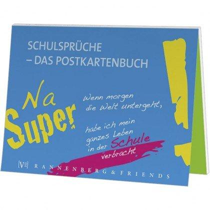 Postkartenbuch Schule, Schulsprüche, Postkarte Ansichtskarte