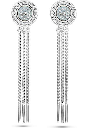 JETTE Silver Damen-Ohrhänger Pearly 925er Silber 44 Zirkonia One Size Silber 32010624