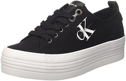 Calvin Klein Jeans Zolah Canvas Blk, Sneaker Donna, Nero (Black/Black R0673Blk), 37 EU