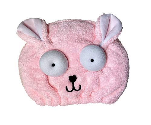 EWENYS Toalla de cabeza súper absorbente de dibujos animados para niños, toalla de microfibra, turbante de cabello de secado rápido, gorro de toalla de pelo seco, anti caídas (rosa)