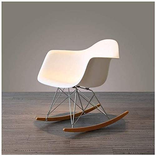 Bench Shoe Stool Pouffes FootBenchs Padded FootBench Balcony Minimalist Modern Idea Nordic Leisure Bedroom Adult Solid Wood Rocking Chair Lazy Siesta Pleasure Lounge Chair - Home (Color : A)