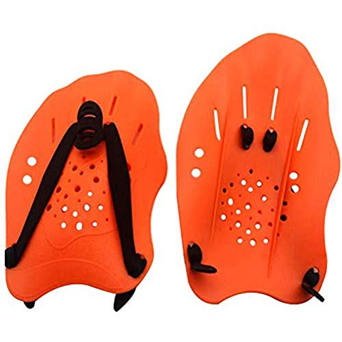 Einsgut Handpaddles Unisex Schwimm Wettkampf Trainingshilfe Hand Paddle Vortex (Ergonomisch, Für Kraft- und Techniktraining)