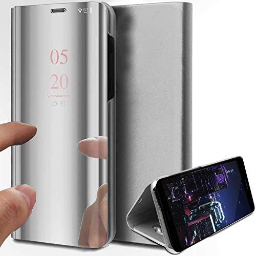 Funda para Samsung Galaxy S20 FE, S20 Ultra Funda para teléfono móvil, Funda rígida para PC de 360 Grados a Prueba de Golpes Funda para teléfono móvil con Tapa Tipo Espejo con función de Soporte