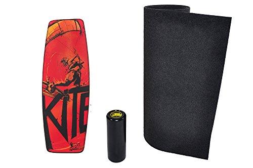 Trickboard PRO Balance Board SET, Surf Trainer - Kite Pro + Roller + Teppich/Bodenschutzmatte - Balance training - Kite style, Kitesurfing style