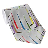 Herren Klassische Krawatte Multi Farbe Hockey Torwartschläger Krawatten Herren Krawatte