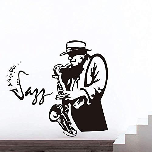 Tianpengyuanshuai Saxofoon Wandtattoo Muurtattoo Trompet woonkamer muziek Studio deco deuren raam vinyl muursticker