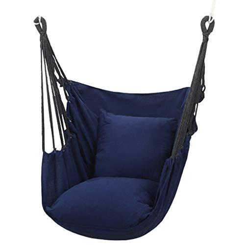 Hamaca para Acampar Silla de giro de la hamaca con la silla colgante de la almohada para la silla de asiento de la hamaca interior y al aire libre que engrose el columpio de la silla de cuna perezosa