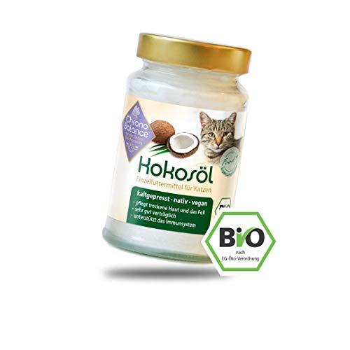ChronoBalance® Bio Kokosöl für Katzen, kaltgepresst in Deutschland, natürliche Nahrungsergänzung, für Fellpflege und Hautpflege, vegan, in Lebensmittel-Qualität, 200ml, 400ml, 1000ml