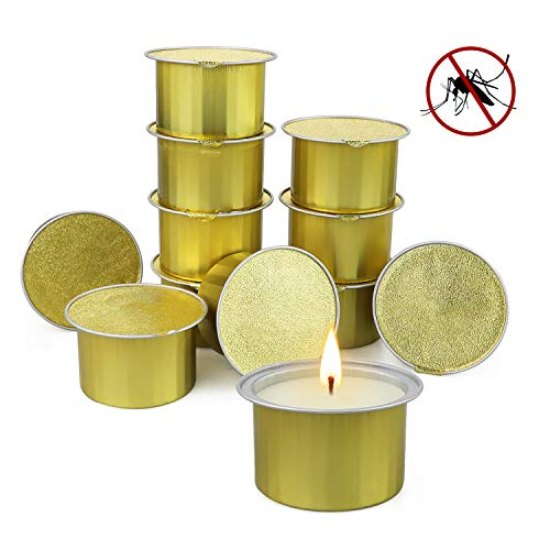 Citronella Candles Outdoor, 12 Pack Large Citronella Scented Candles with Lemongrass Essential Oil and Soy Wax Outdoor Indoor