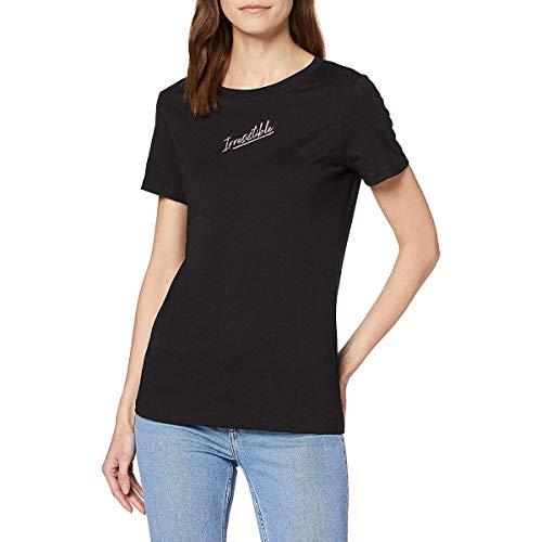 Guess SS CN IRRESISTEBLE T T-Shirt, Nero, XS Donna