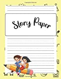 Story Paper A Draw and Write Journal 150 Pages 8.5 x 11 PA-2: Measured Top Space For Title, Picture...