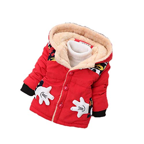 Guy Eugendssg Infant Coat Autumn Winter Baby Jackets for Baby Boys Jacket Kids Warm Outerwear Coats Red1 6M