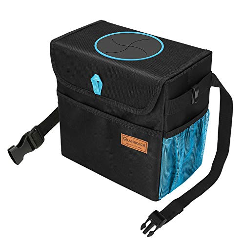 Product Image of the QUARKACE Car Trash Can, with a Removable Leakproof Liner, 3 Storage Pockets, Trash Can for Car, Truck, Vehicle, Collapsible Car Garbage Can, Easy to Clean and Empty Rubbish