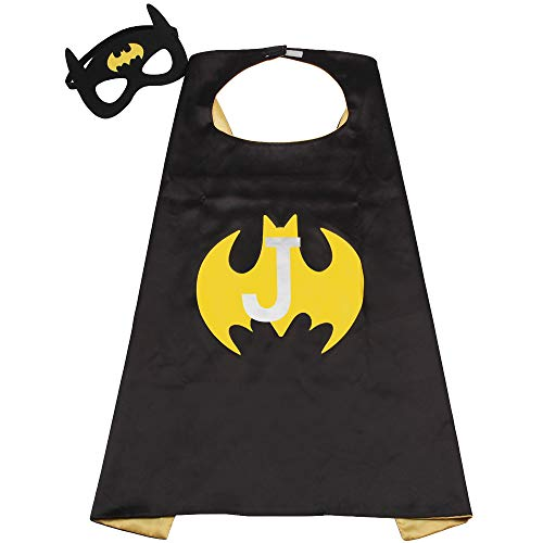 Batman Cape Kids Boy Girls Batgirl Capes Superhero Mask Toddler Super Costume Yellow
