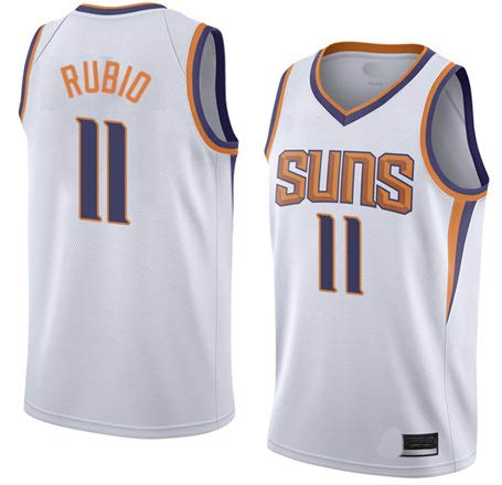 K&A Camiseta Ricky Rubio Phoenix Suns Blanco, Camiseta Ricky Rubio Phoenix Suns Association Edición Swingman para Hombre & Niño (Blanco, Niño S)