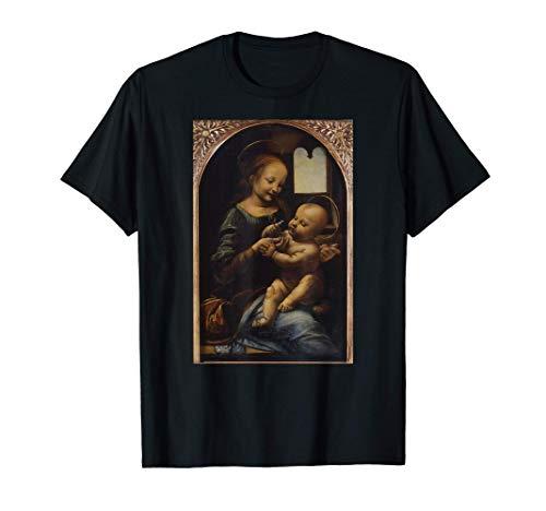 Leonardo da Vinci Benois Madonna Retro Aesthetic Vintage Art Camiseta