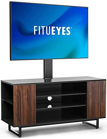 FITUEYES TV Stand with Mount Swivel Floor Wood TV Stand for 32 70 TVS Universal Corner TV Floor product image