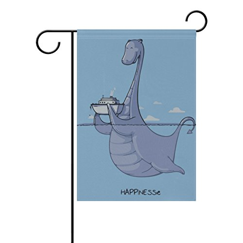 MUMIMI Cartoon Dinosaurier Garten Flagge 30,5x 45,7cm Zwei-seitige Hof Dekoration Polyester Tolle Bilder Flagge, Mehrfarbig, 28x40(in)
