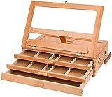 Awningcranks Chevalet Peinture Chevalet de Bureau chevalet de Table chevalet de Bureau en Bois avec tiroir idéal pour l'esquisse, Le Dessin et la Peinture