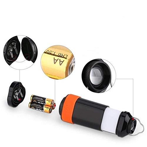 LSS-MDS Außenbeleuchtung, 3 Modi tragbare zusammenklappbare LED-Laterne Taschenlampe Ultra-Batterien mit Strom versorgt Camping Licht Nizza Led