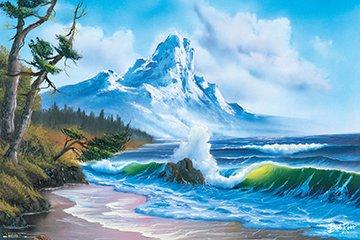 BOB Ross Waves Crashing Poster Drucken (91,44 x 60,96 cm)