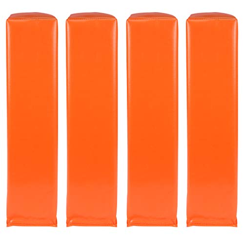 """GoSports Football End Zone Pylons - Set of 4, Regulation 18"""" x 4"""" Sand Weighted Anchorless Football Field Markers, Orange"""