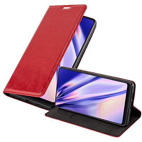 Cadorabo Funda Libro para Xiaomi Mi Mix 2S en Rojo Manzana - Cubierta Proteccíon con Cierre Magnético, Tarjetero y Función de Suporte - Etui Case Cover Carcasa