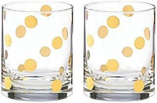 kate spade new york Pearl Place Double Old Fashioned Glass, Set of 2