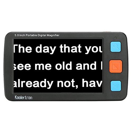 Digital Video Magnifier, 5.0pollici mano Portable Mobile elettronica da lettura lettura Lupen per sehbehinderte, anziani, makuladeg eneration, Persone con alta visione corto Leggerezza. Nero