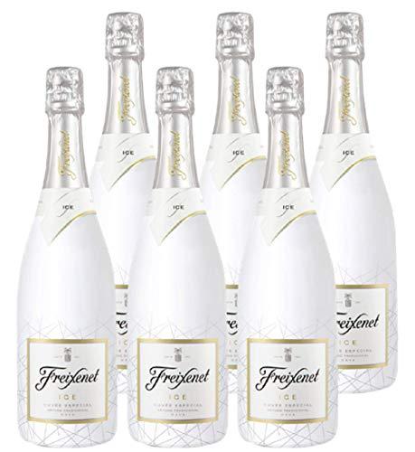 Freixenet ICE, Cava, Halbtrocken, 11,5% Alkohol (6 x 0,75l Flaschen) – Wunderbar spritzig Dank der Chardonnay Traube