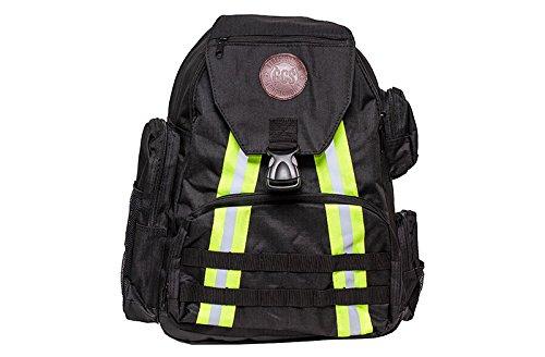 Firefighters Merchandise Fireflex Backpack w/Reflective, Laptop Sleeve & Tactical MOLLE - Black