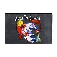 Alice In Chains アリス・イン・チェインズ カーペット ラグ ラグマット 滑り止め 防ダニ 抗菌防臭 ふわふわ 年中使え 手触りよく フランネル 防音 玄関 廊下 引越しプレゼント 折畳み 洗濯機対応可 長方形 絨毯 100*150cm