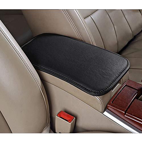 ECYC Coprisedili Per Braccioli Per Auto Consolle Di Protezione Per Braccioli Dei Sedili Centrali In Pelle PU, Nero, 29x19 Cm