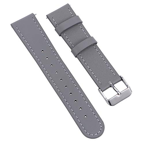 Baluue Compatible Amazfit Bip Bands Reemplazo de Pulsera de Cuero 20Mm para Huami Amazfit GTS Bip Smartwatch Accesorios Gris