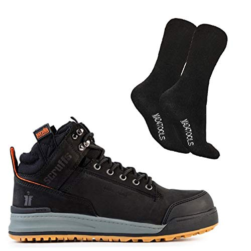 Scruffs Switchback Safety Boots and Work Socks Bl